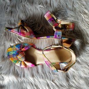 New Stuart Weitzman metallic sandals 7.5.